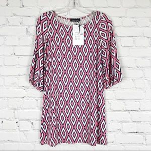 HourGlass Lilly Pink and Navy Tunic